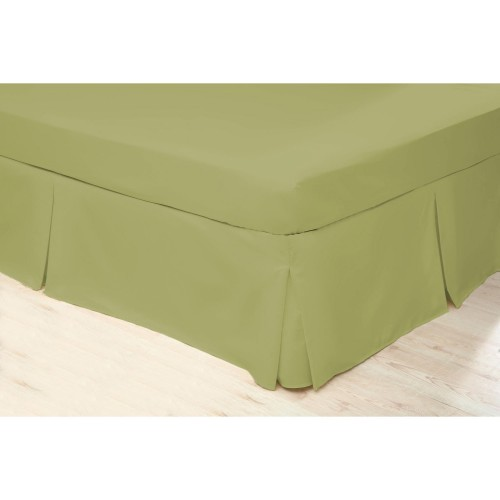 Belledorm 200 Thread Count Fitted Sheet, Single,Olive