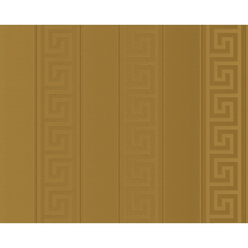 Versace Greek Stripe Wallpaper, Antique Gold