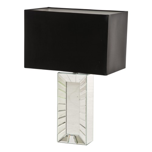 Casa Sateen Table Lamp, Chrome
