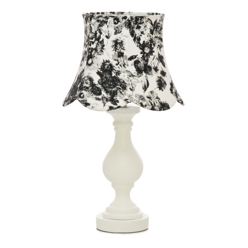 Casa Peony Table Lamp, White