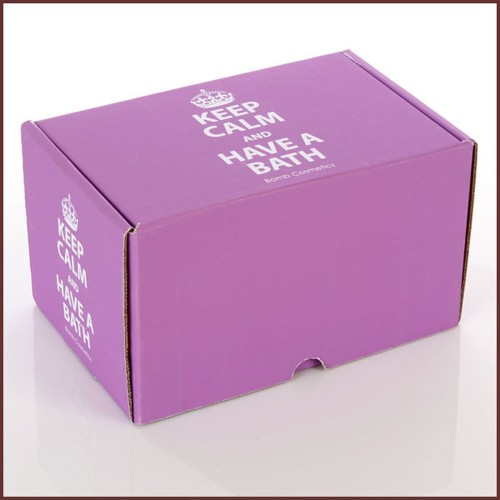 Bomb Cosmetics Keep Calm Empty Gift Box, Pink