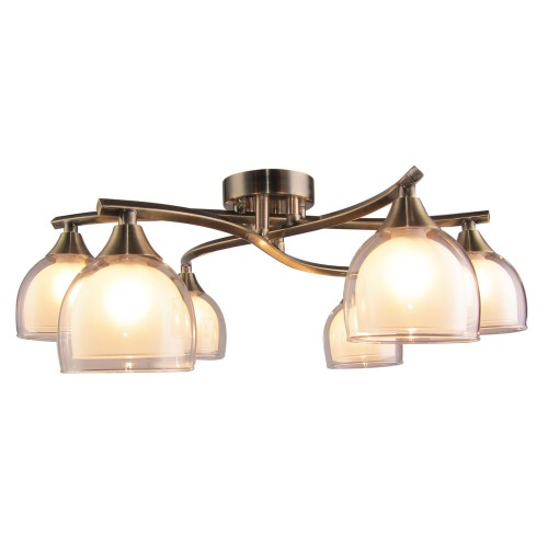 Casa Twig 6 Light, Antique Brass