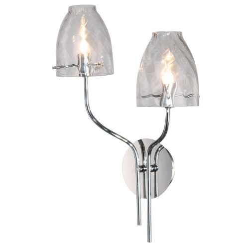 Casa Cut Glass Wall Light, Chrome
