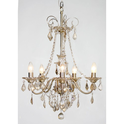 Casa Taylor 2 Amber Chandelier, Antique Brass