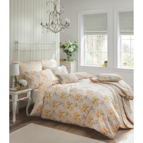 Carnation Double Duvet Set, Primrose