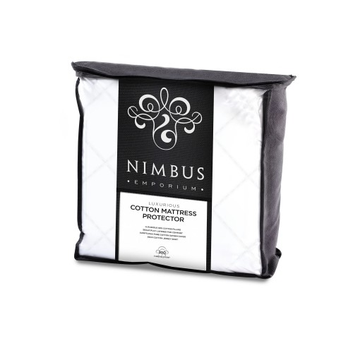 Trendsetter Nimbus Cotton Mattress Protector, Single, White