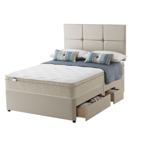 Silentnight Brazil Platform Top 2+2 Drawer Double