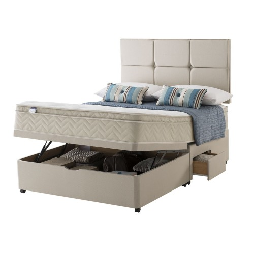 Silentnight Brazil Platform Top Ottoman + 2 Continental Drawers Small Double