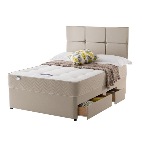 Silentnight Vegas Platform Top 2+2 Drawer Set Superking