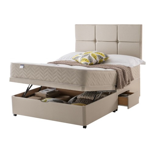 Silentnight Vegas Platform Top 2 Continental Drawer  Ottoman Divan Set King