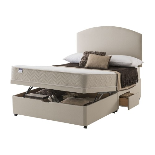 Silentnight Vienna Platform Top 2 Continental Drawer Ottoman Divan Small Double