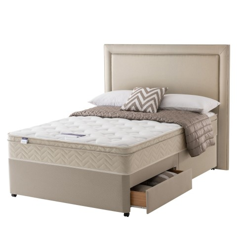 Silentnight Milan Platform Top 2 Drawer Divan Set Double