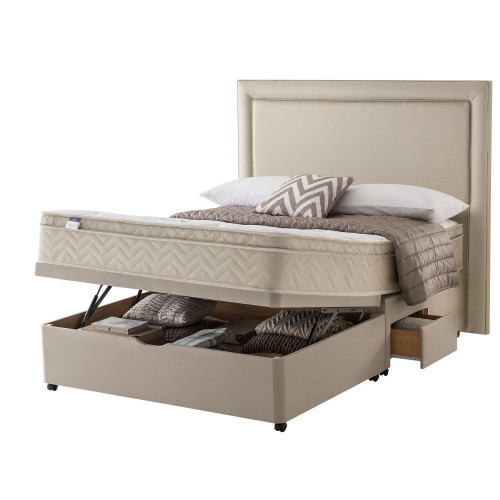 Silentnight Milan Platform Top 2 Continental Drawer Ottoman Divan Double