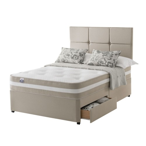 Silentnight Georgia Platform Top 2 Drawer Divan Set Superking