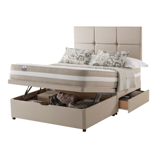 Silentnight Georgia Platform Top 2 Drawer Ottoman Divan Small Double