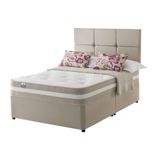 Silentnight Naples Platform Top Divan Set Superking