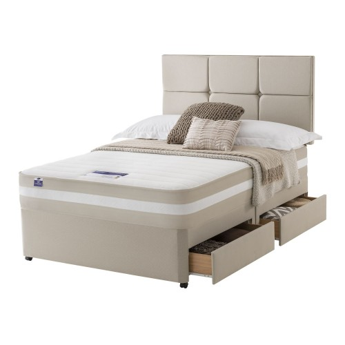 Silentnight Bari Platform Top 4 Drawer Divan Set Double