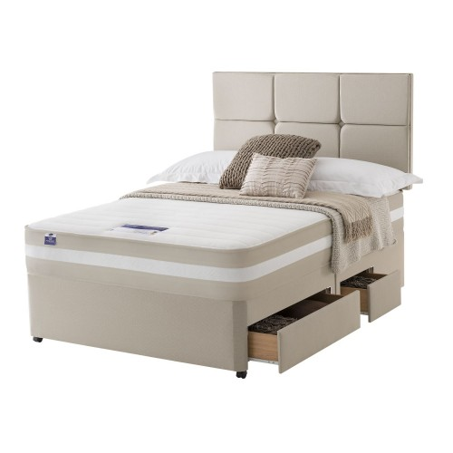 Silentnight Bari Platform Top 2+2 Drawer Divan Set Double