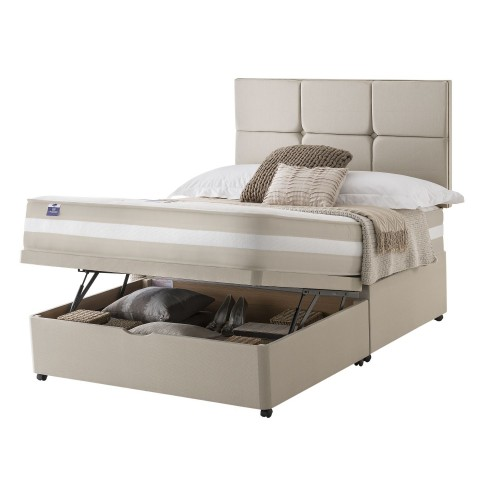 Silentnight Bari Platform Top Ottoman Divan Set Double