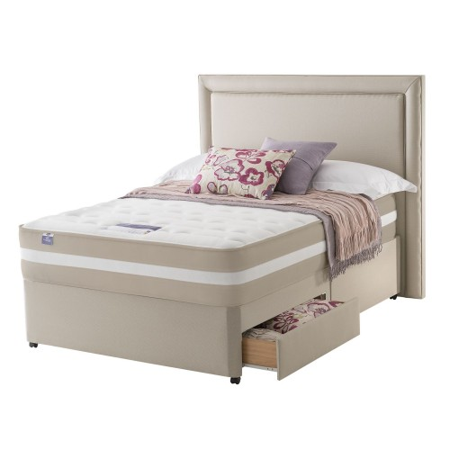 Silentnight York Platform Top 2 Drawer Divan Set Double