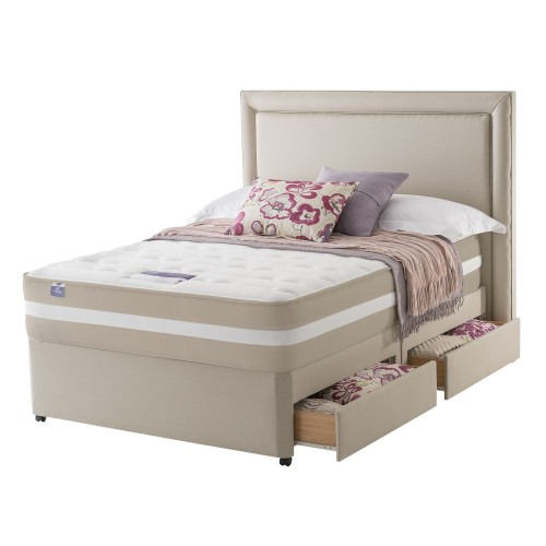 Silentnight York Platform Top 4 Drawer Divan Set Superking