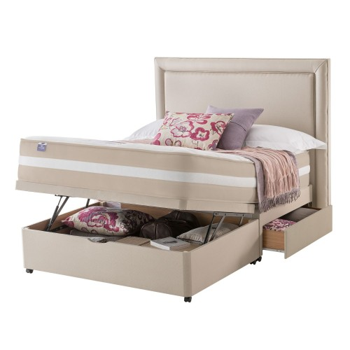Silentnight York Platform Top 2 Continental Drawer Ottoman Divan Set Superking