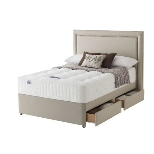 Silentnight Tuille Platform Top 2+2 Drawer Divan Set Superking