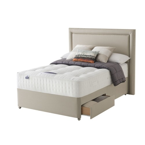 Silentnight Tate Platform Top 2 Drawer Divan Set Kingsize