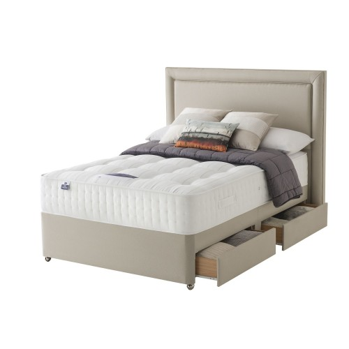 Silentnight Tate Platform Top 4 Drawer Divan Set Superking