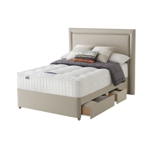 Silentnight Tate Platform Top 2+2 Drawer Divan Set Superking