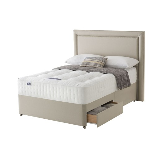 Silentnight Shipley Platform Top 2 Drawer Divan Set Kingsize