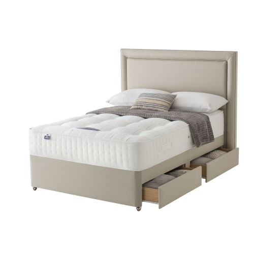 Silentnight Shipley Platform Top 4 Drawer Divan Set Double