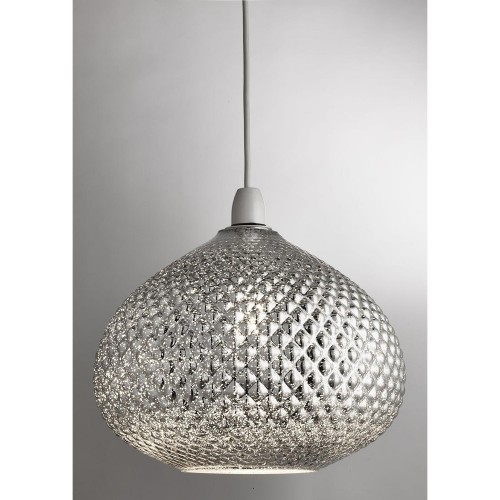 Casa Gigi Glass Non Electric Pendant, Chrome