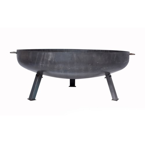 La Hacienda Pittsburgh Large Steel Firepit, Oiled Steel