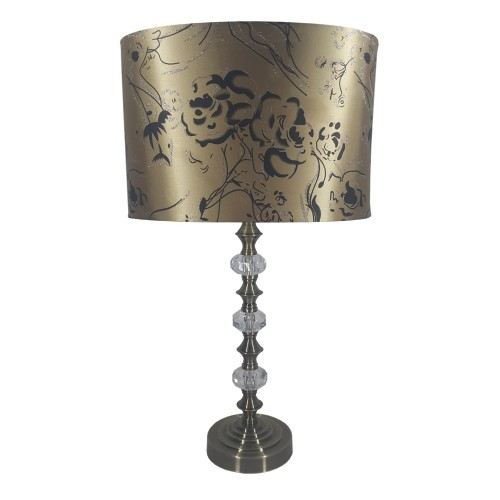 Rhiannah Galaxy Lampset, Satin Nickel
