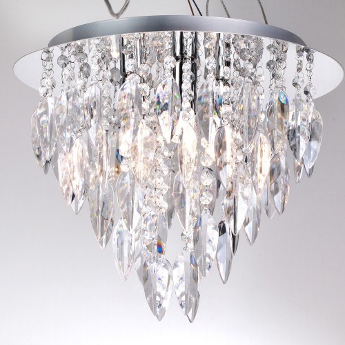 Tahoe 3 Flush Fitting Ceiling Light, Clear