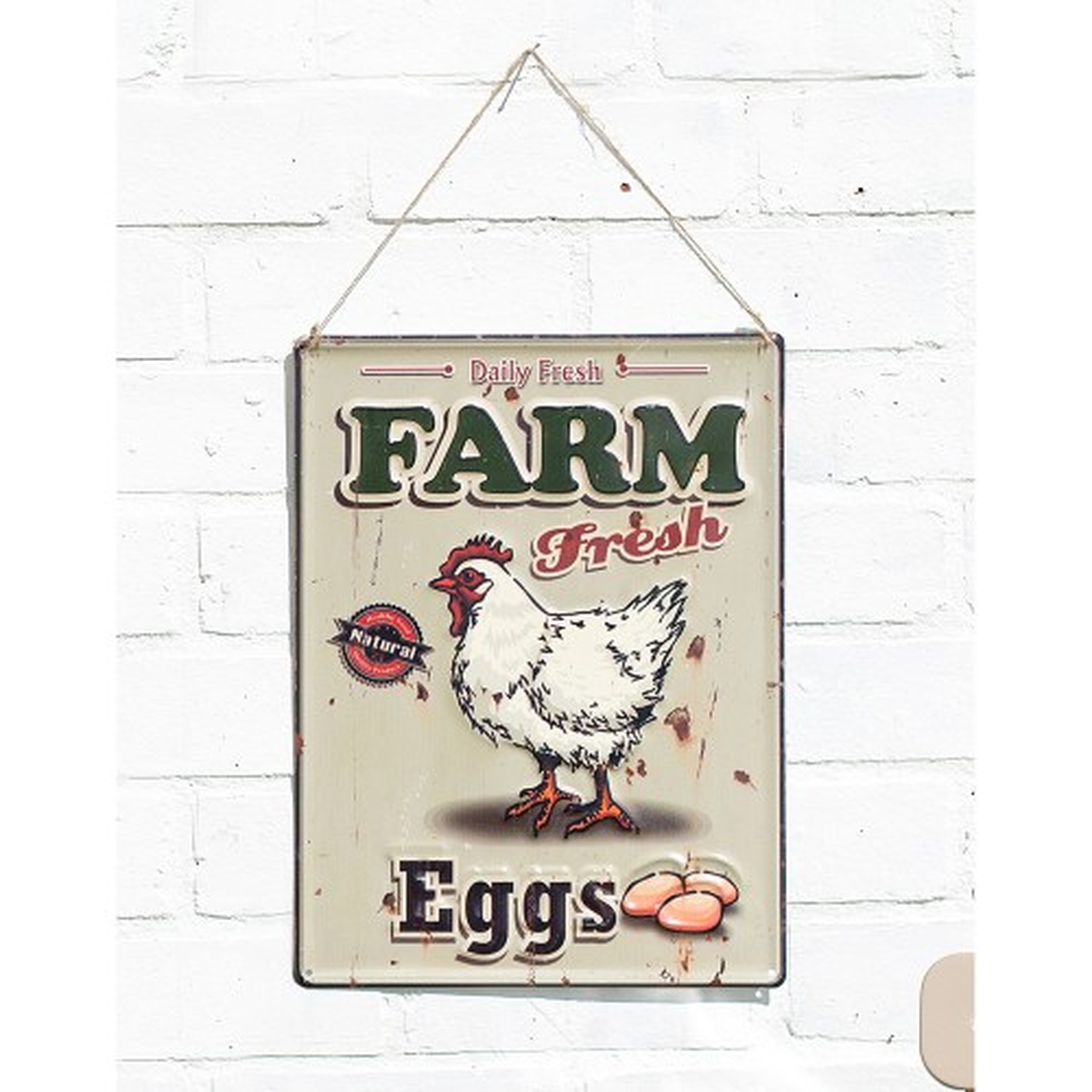 La Hacienda Farm Fresh Eggs Sign