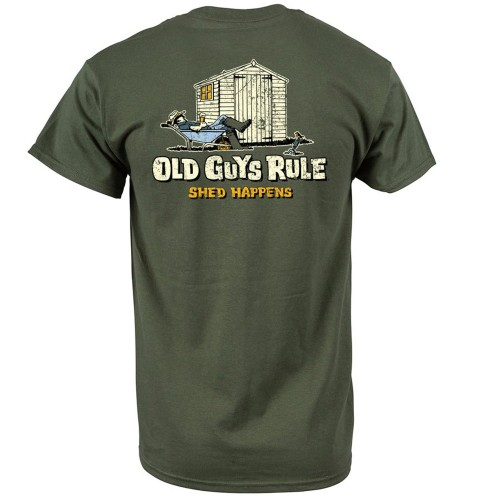 Old Guys Rule Shed Happens Ii T-shirt Xl, Military Green