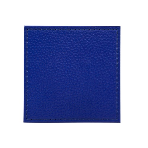 Denby Blue Faux Leather Coasters