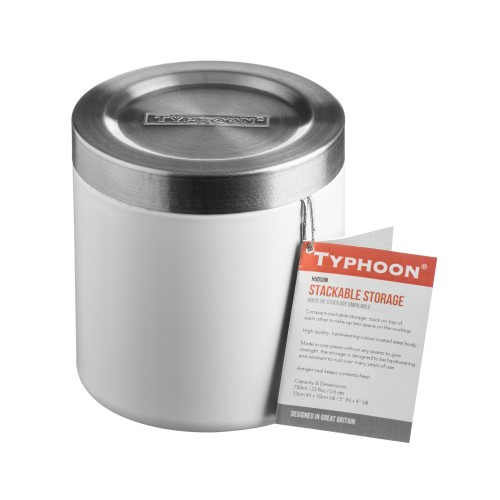 Typhoon Hudson White Stacking Storage, 11cm