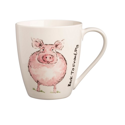 Price And Kensington Back To Front Pig China Mug