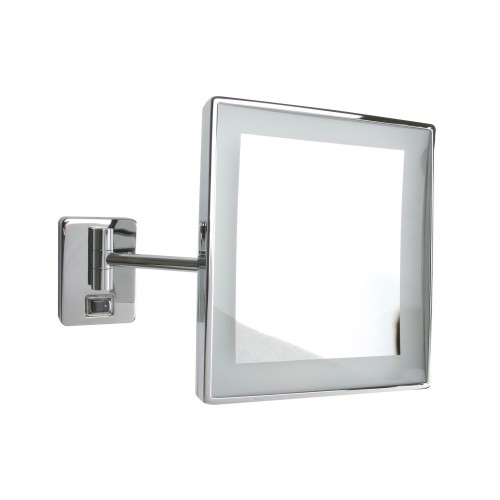 Miller From Sweden Square Led Mirror, Chrome