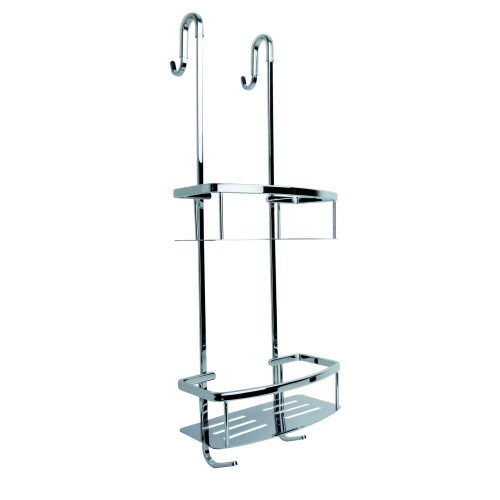 Miller Two Tier Classic Shower Caddy, Chrome