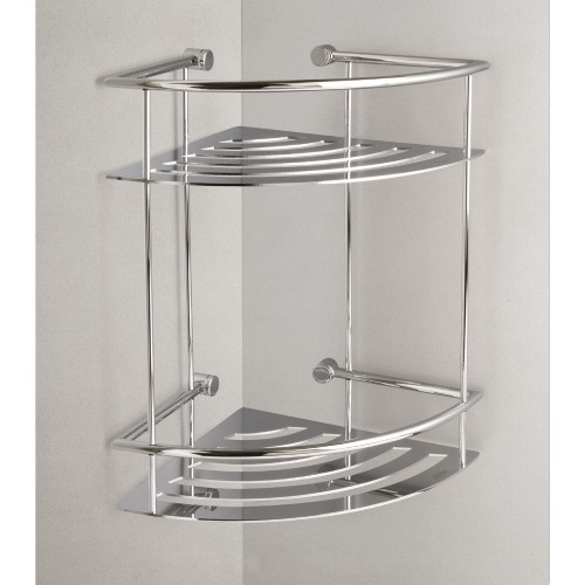 Miller Classic Corner 2 Tier Shower Shelf, Chrome