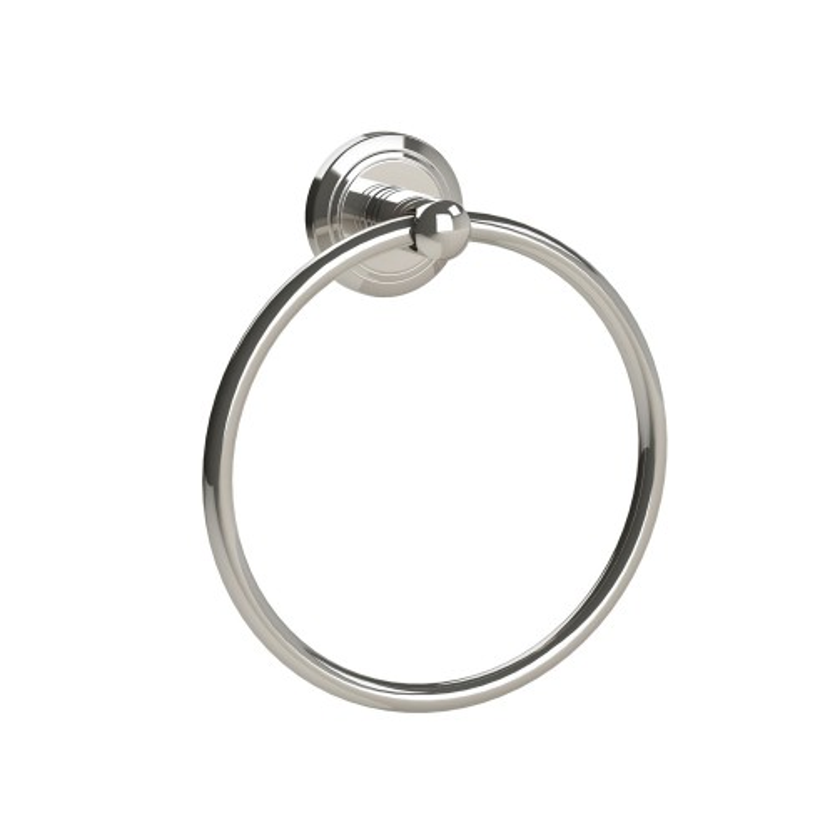 Miller Oslo Towel Ring, Polished Nickel