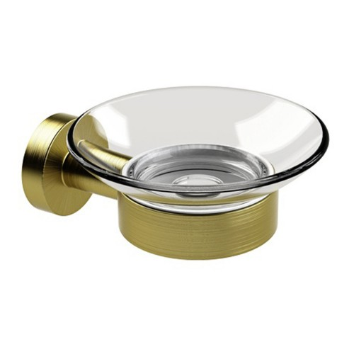 Miller From Sweden Soap Dish And Holder, Lacquered Brass