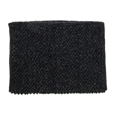 Casa Micro Lurex Sparkle Bath Mat, Black/ Gold