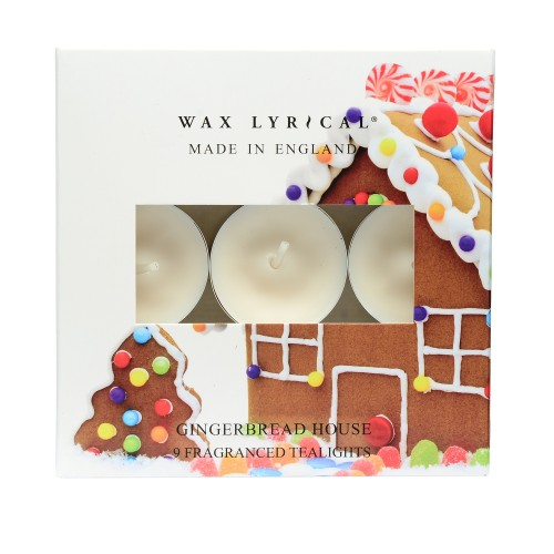 Wax Lyrical Tealights Gingerbread House, Multi