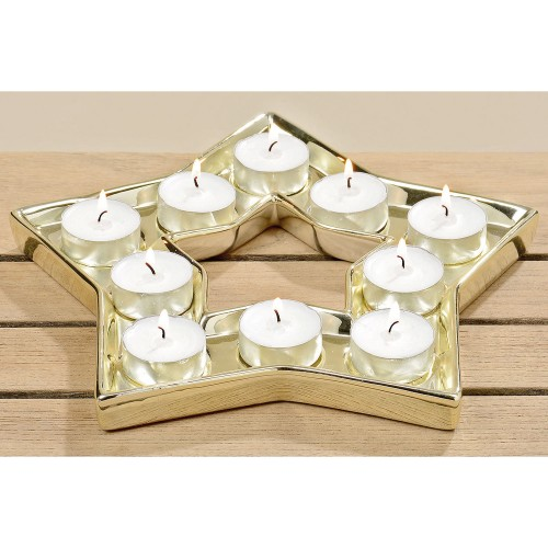 Boltze Anessa Candle Plate, Gold