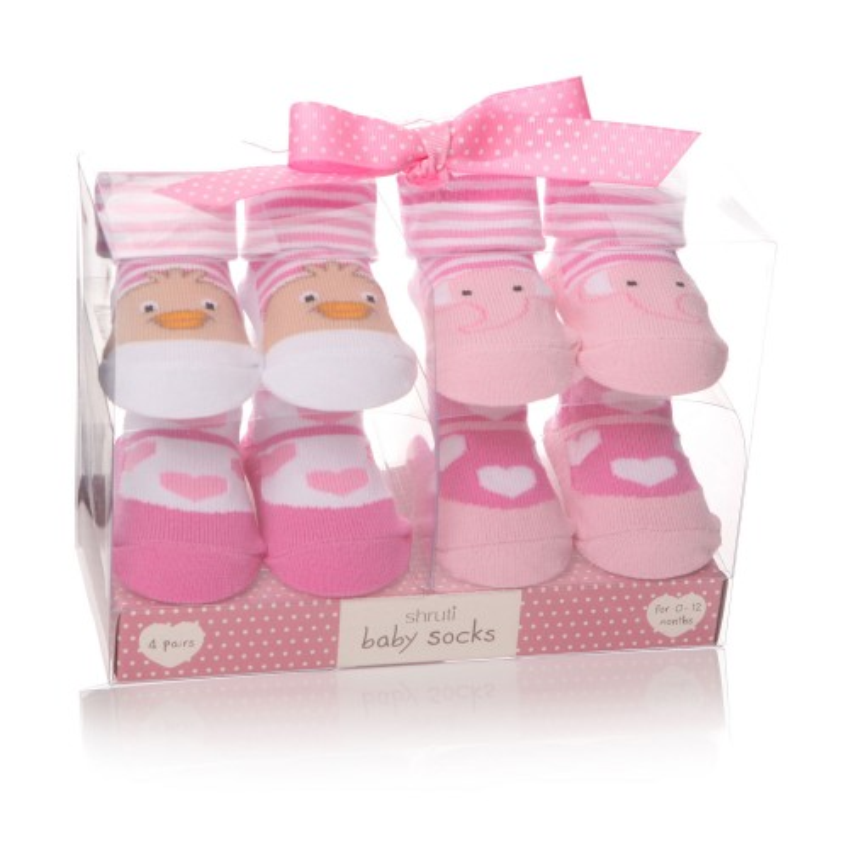 Junction Eighteen Baby Sock Pink Bird, Pink